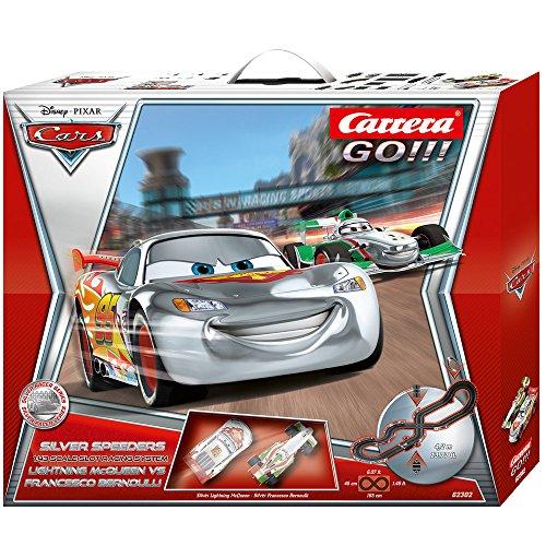 Slot Car Nascar Racing (Carrera Go Disney Cars Silver Speeders Racing Set)