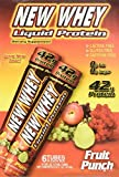 New Whey 42g Liquid Protein Drinks: Fruit Punch, 6 - 3.8oz Drinks by New Whey