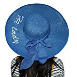 Kaisifei Bowknot Casual Straw Women Summer Hats Big Wide Brim Beach Hat (Hi Lady)