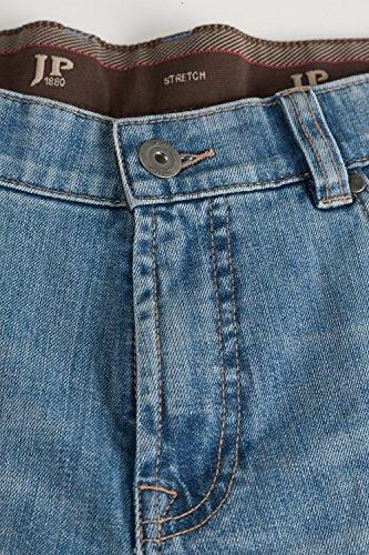 JP 1880 Homme Grandes tailles Jeans coupe droite aspect usé Denim pour Homme bleu bleached 110 696791 92-110