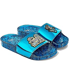 ff88b4f9768f Justice Slide Sandals Blue Mermaid
