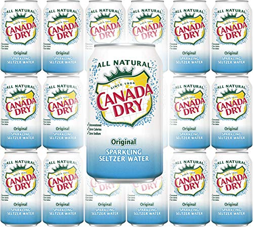 Canada Dry Original Sparkling Seltzer Water, 12oz Can (Pack of 18, Total of 216 Oz)