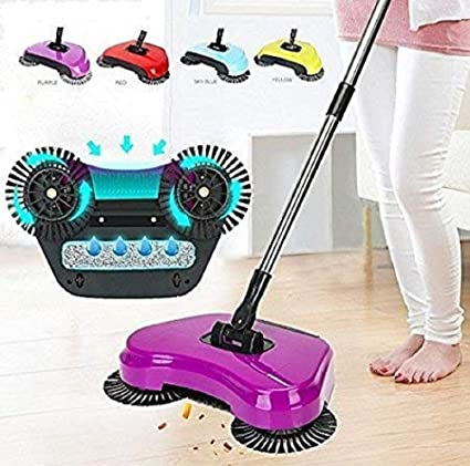 Taran Household Auto Hand Push Floor Dust Surface Cleaning Broom/Sweeper