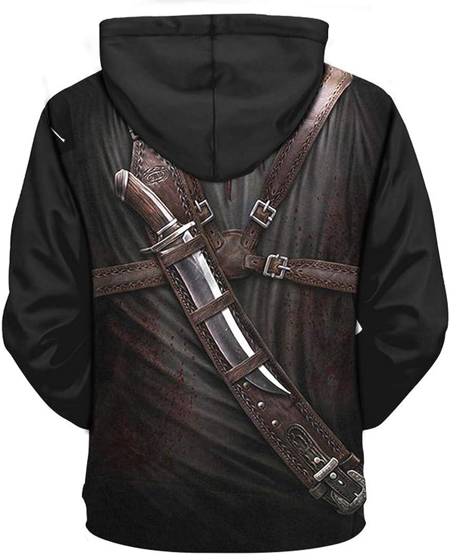 T-Tesorng Assassin Cosplay 3D Hoodies Print Hoodies Hooded Sweatshirts Hip Hop Pullover