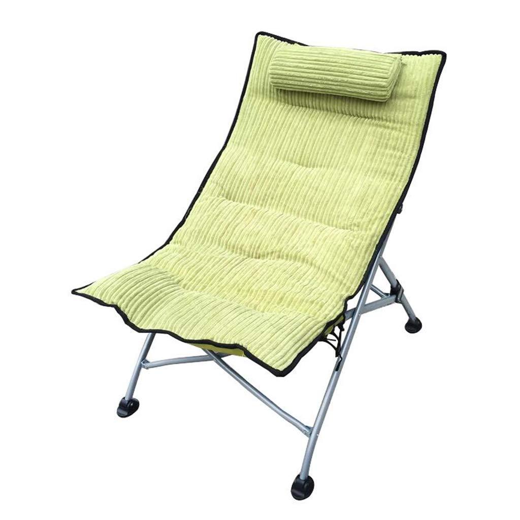 SYTPZ SMQ Chaises Longues, Chaise de Bureau pour la Pause déjeuner, Chaise Pliante portative, Chaise Longue pour Les Loisirs à la Maison, Chaise de Dossier paresseuse Multifonctionnel Pliant de Vert -