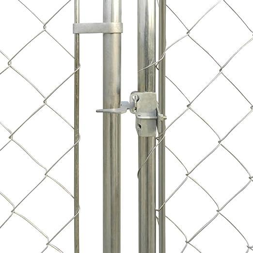 vidaXL Perrera de Exterior Acero Galvanizado y Malla 2x2 m Jaula para Perros: Amazon.es: Productos para mascotas