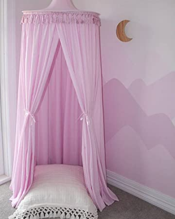 amazon com mosquito net canopy with tassels high density polyester