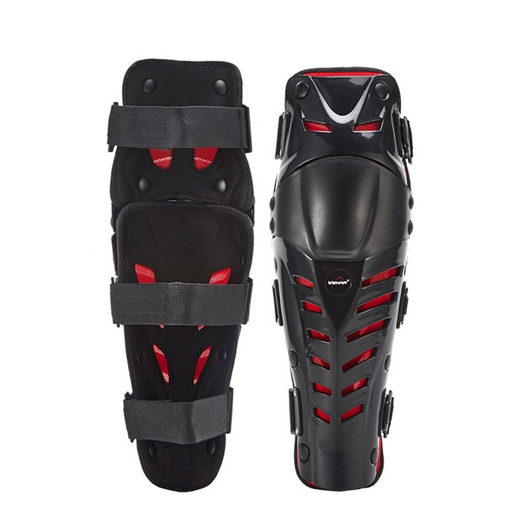 Runworld 1 Pair of Adults Fashion Knee Shin Armor Protect Guard Pads Accessories with Plastic Cement Hook for Motorcycle Motocross Racing Protective Gear