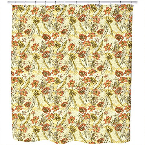 Uneekee Vintage Hawaii Shower Curtain: Large Waterproof Luxurious Bathroom Design Woven Fabric by uneekee