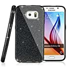 Galaxy S6 Case,Premium Branded MEKO® Glitter Bling **Built in Sparkles ** Anti-falling off and Anti-Shock High Quality Soft Gel Flexible TPU Case[Perfect Fit] [Scratch Resistant] for Samsung Galaxy S6 -- (Black)
