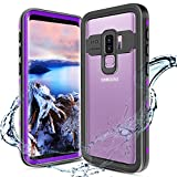 XBK Case for Samsung Galaxy S9 Plus, Waterproof Case with Built-in Screen Protector,Full-Body Rugged Resistant Protective Hard Cover Case for Galaxy S9 Plus (2018, 6.2inch) (Purple Clear Back)