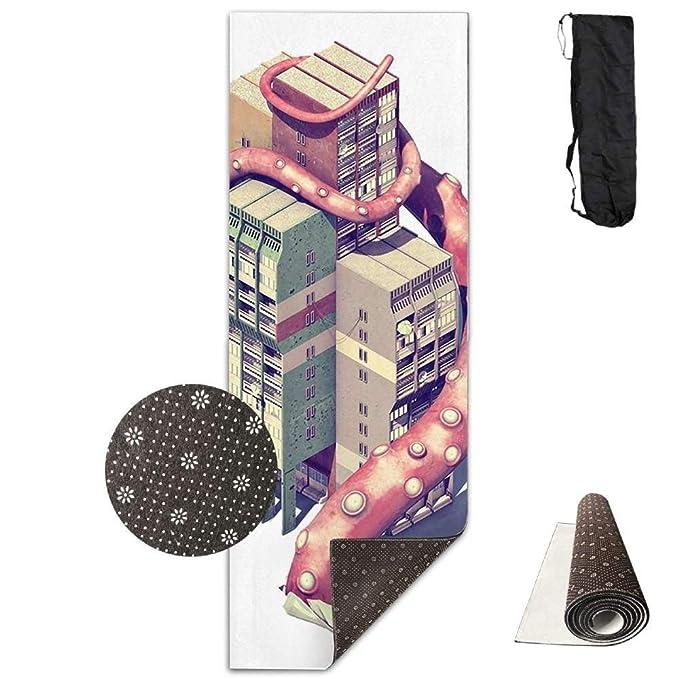 Amazon com: Non Slip Yoga Mat Egypt Pyramid Rays Premium Printed 24