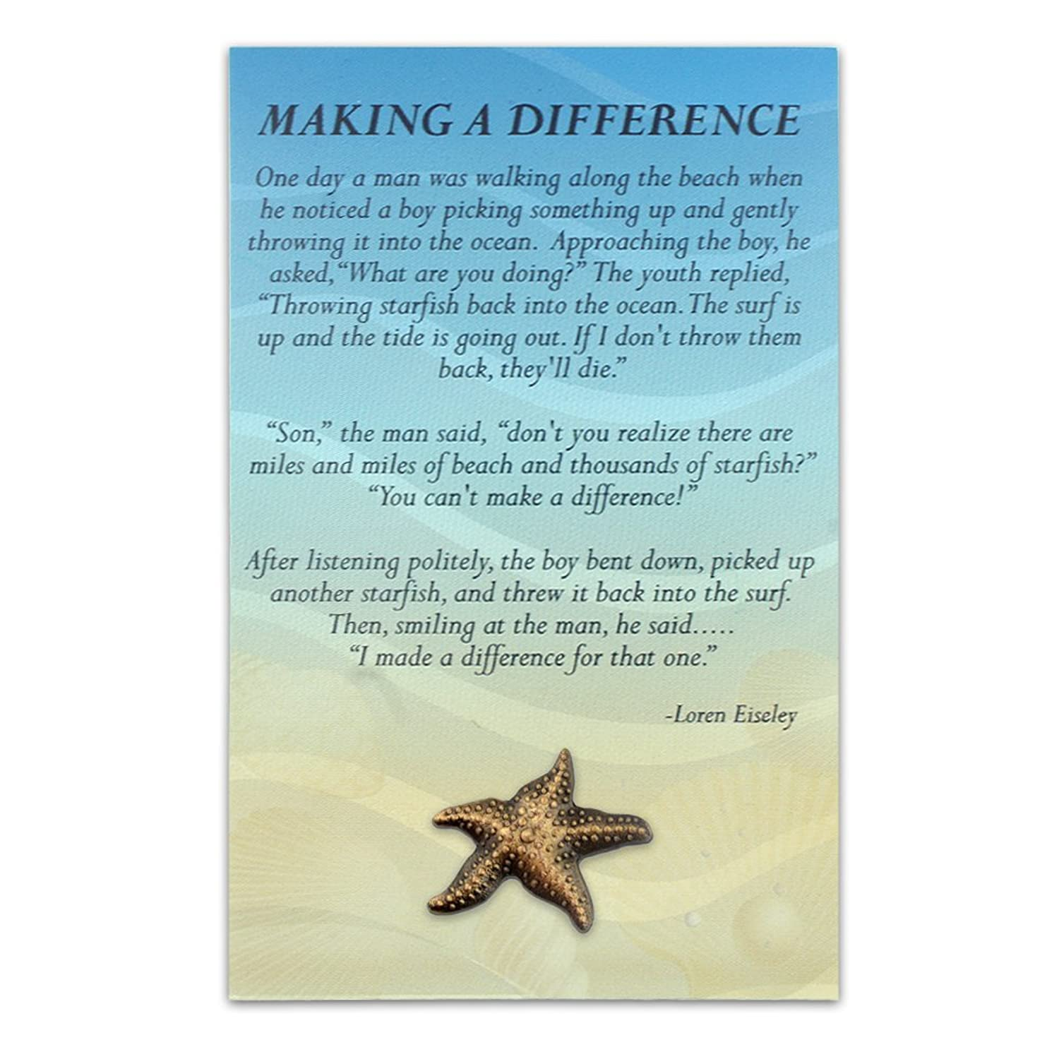 Starfish poem card - Amazon com pinmart s starfish lapel pin with presentation recognition card 4 1 4 inch x 2 3 4 inch jewelry