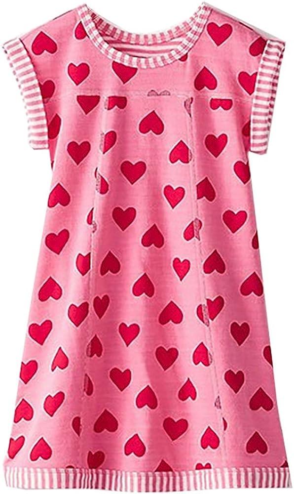 VIKITA Summer Girls Dresses Casual Short Sleeve Girl Clohtes for Kids 2-12 Years