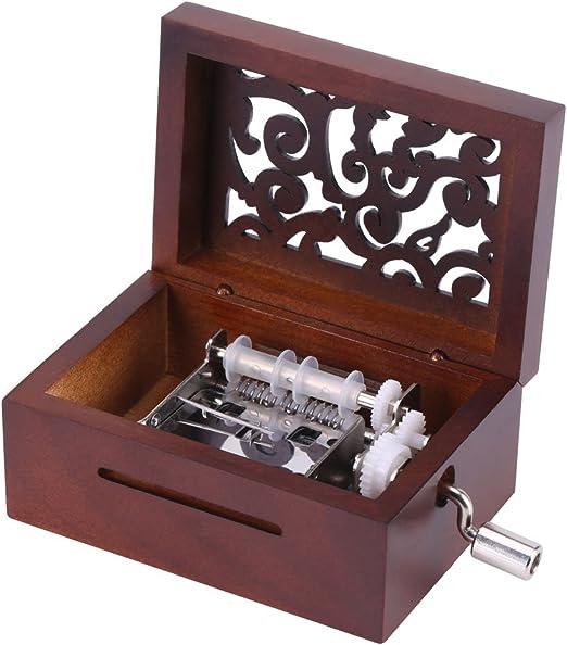 Caja de Música de Manivela Caja Musical de 15 Nota Movimiento Caja ...