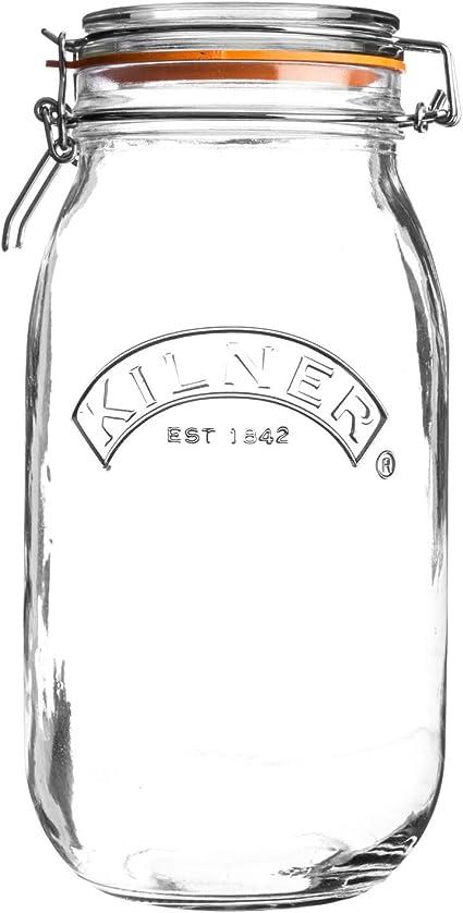 137 mm, 124 mm, 255 mm Jarras Kilner 0025.493 Alrededor Vidrio Transparente jarra