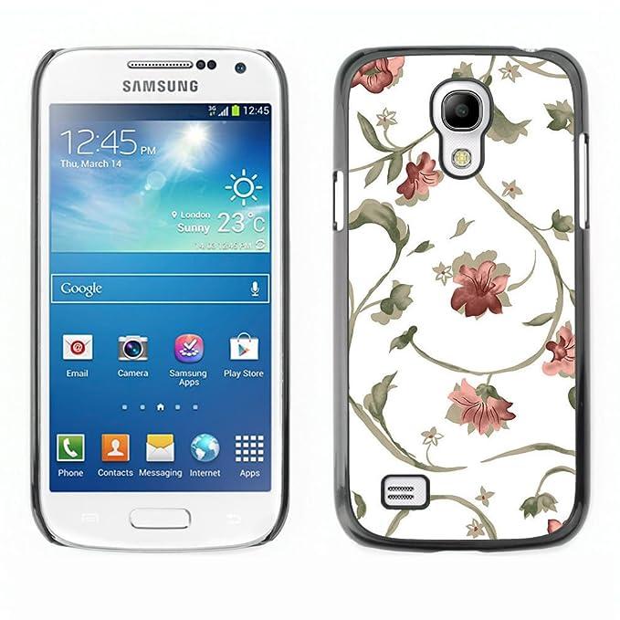 Qcase Samsung Galaxy S4 Mini I9190 Mini Version Floral