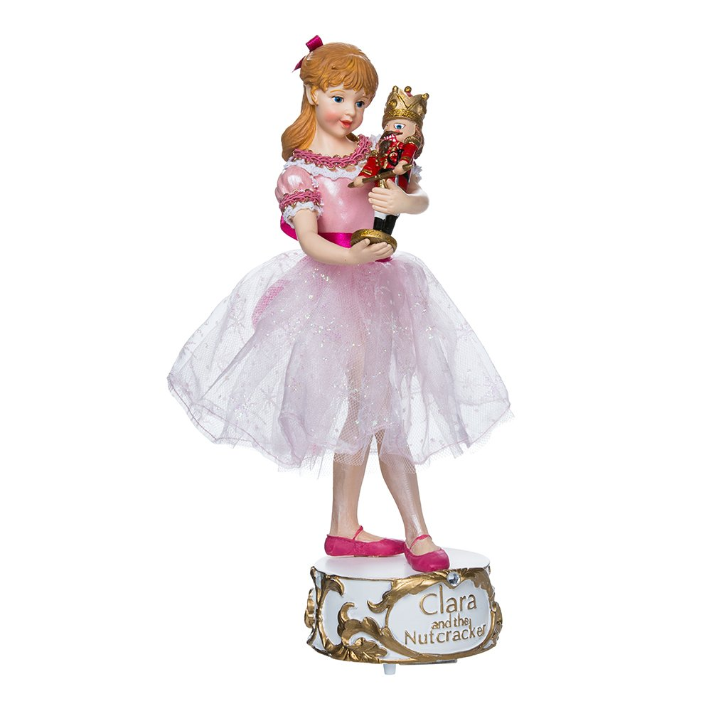 Kurt Adler 10-inch Musical Clara with Nutcracker