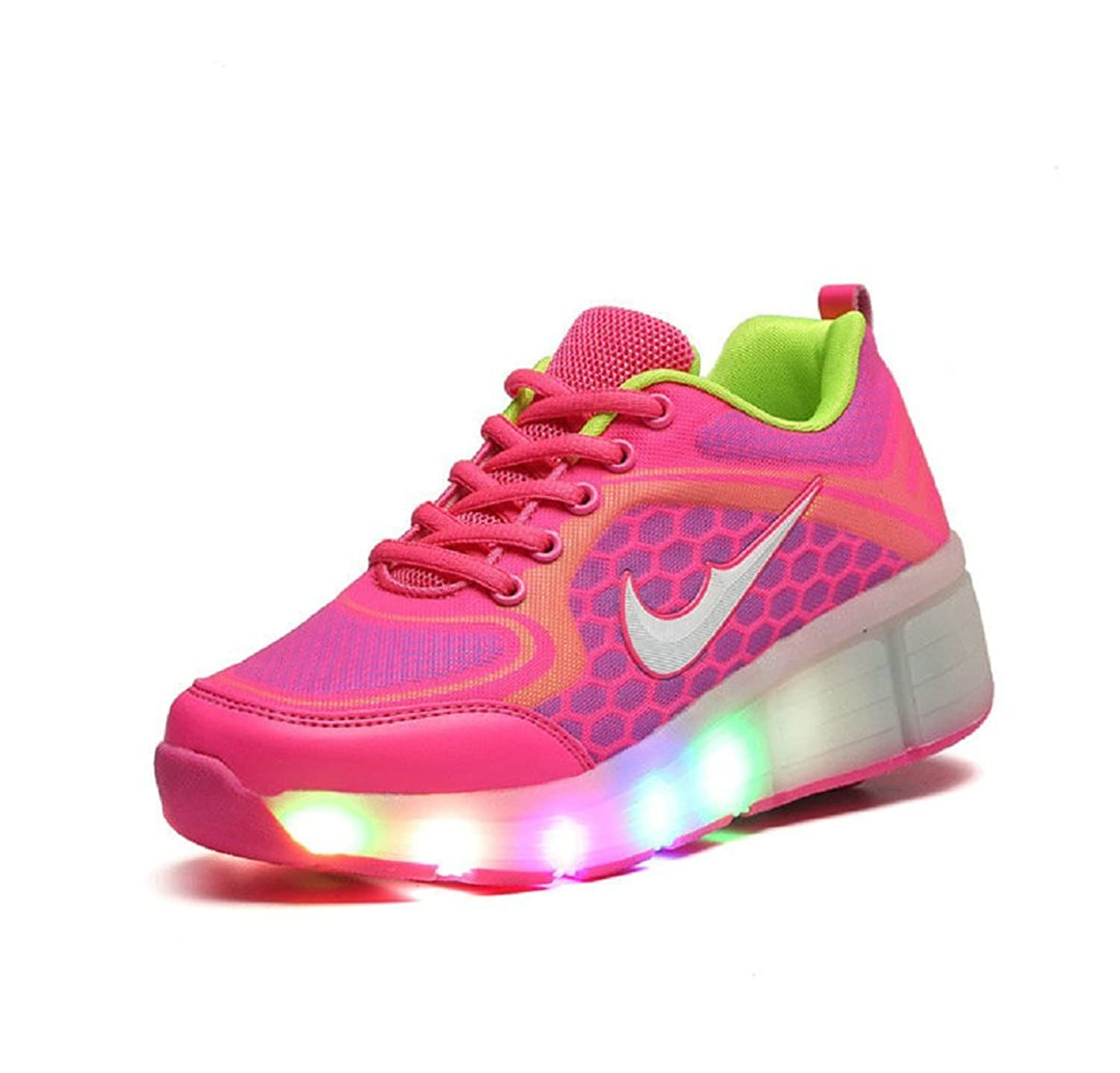 Amazon.com | Girls Boys LED Wheel Roller Shoes Retractable Roller Skate Shoes Kids Sneakers | Fitness & Cross-Training