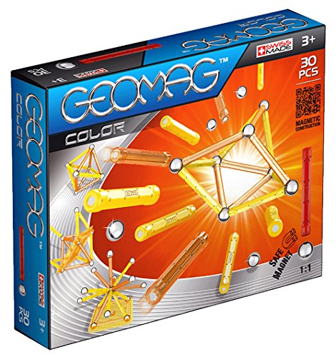 30 Construction Piece Set (Geomag 30-Piece Color Construction Set with Assorted Panels – Mentally Stimulating for Children and Adults – Safe and Construction – For Ages 3 and Up)