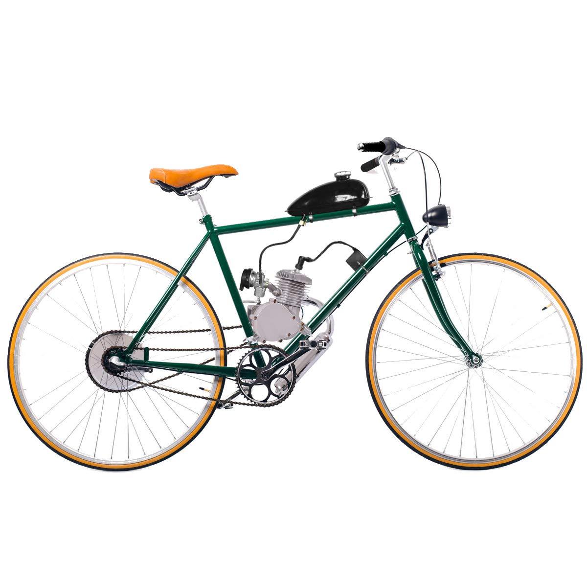 Goplus Motor de la Bicicleta Kit 80cc de 2 Tiempos de Bicicletas ...