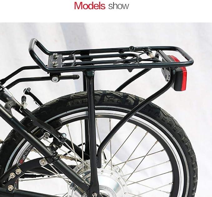 BGGPX 20/24/26/27.5/28/29Inch Portaequipajes portaequipajes Trasero para Bicicleta Doble Percha de Aluminio Negro Portaequipajes para Bicicleta eléctrica Accesorios para Bicicleta: Amazon.es: Deportes y aire libre