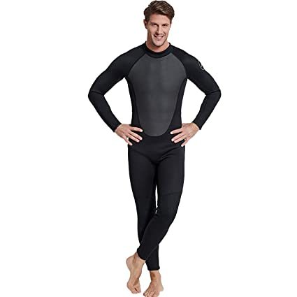 4788e4f3cd Image Unavailable. Image not available for. Color  Cahayi Mens Full Wetsuit  Neoprene 3mm Long Sleeve Diving Surfing Suit Plus Size