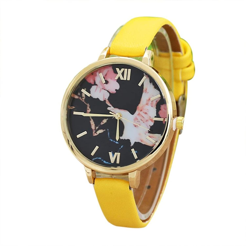 Sinmaレディースクオーツ腕時計カジュアルレトロレザー腕時計アナログRound Watches B071NH4Q7N Beige