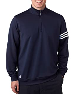 ae448ca2 adidas Golf Men's Climalite 3-Stripes Pullover at Amazon Men's ...