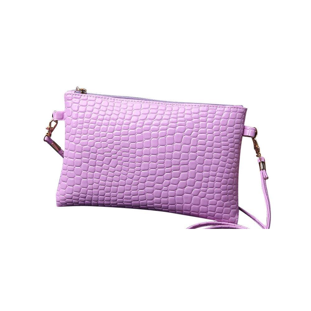Liraly Gift Bags,Clearance Sale! 2018 New Women Girl Fashion Purse Leather Crocodile Pattern Mini Crossbody Shoulder Bag (Light Purple)