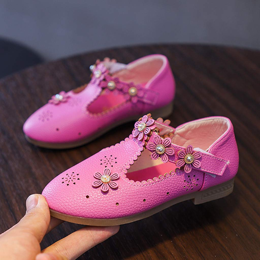 Kids Baby Girl Fashion Princess Crystal Dance Shoes Girls Soft Leather Mary Jane Style Smart Shoes Goosun Sparkly Pink Peach Glitter Ballerina Party Special Occasion Shoes