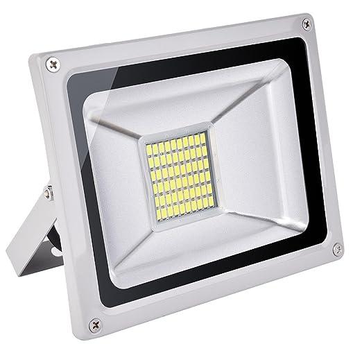 CSHITO Foco LED 30W, 2100 lm, Iluminación interior exterior ...