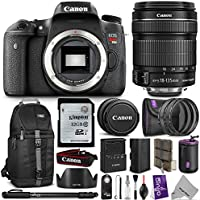 Canon EOS Rebel T6s Digital SLR Camera w/ EF-S 18-135mm f/3.5-5.6 IS STM Lens w/ Advanced Bundle - Includes: Sling Backpack, Monopod, UV-CPL-ND4, Lens Pouch, Remote Control, Dedicated Lens Hood, Kingston 32GB SD Card, Camera Cleaning Set Benefits Review Image