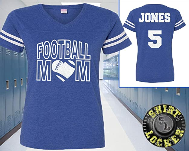 114dd8e97b3 Image Unavailable. Image not available for. Color: Custom Football Mom  Glitter ...