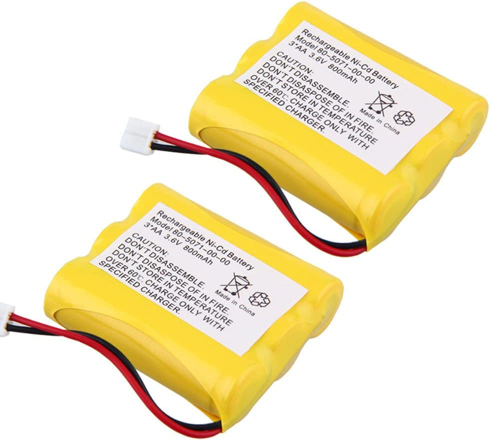 3 AA 3.6V 800mAh Ni-Cd Cordless Home Phone Replacement Battery for 80-5071-00-00 MG2423 8050710000 (Pack of 2)