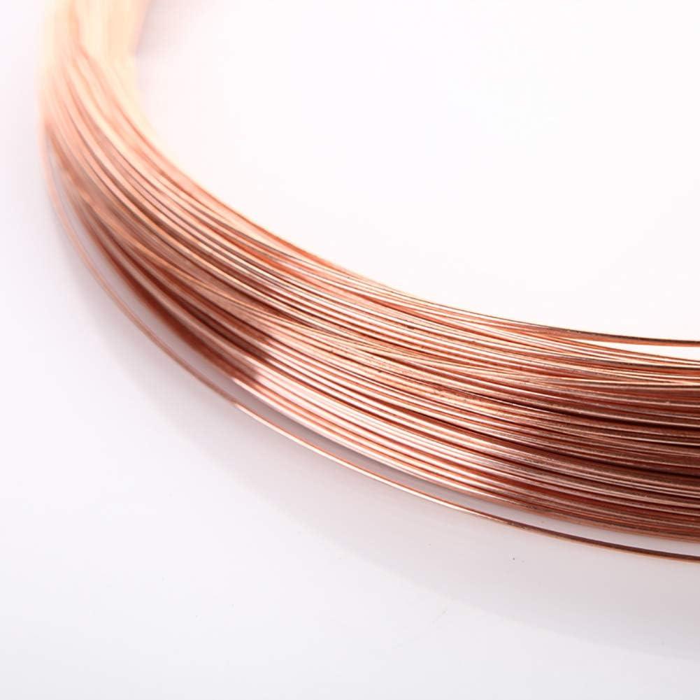 SOFIALXC Bare Copper Wire 65.6 Ft Coil Single Solid Copper Wire 99.9/% Pure-diameter0.6mm