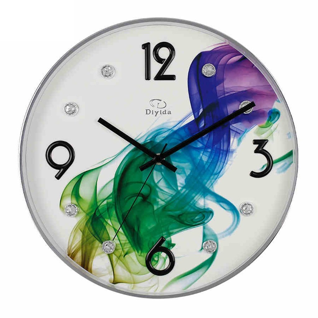 JCRNJSB® 壁掛け時計リビングルームクリエイティブベッドルームシンプルなミュートメタルクォーツウォールクロック 壁掛けサスペンション クロックウォールクロック クォーツ時計 (色 : #2) B07D3KHQ4P#2
