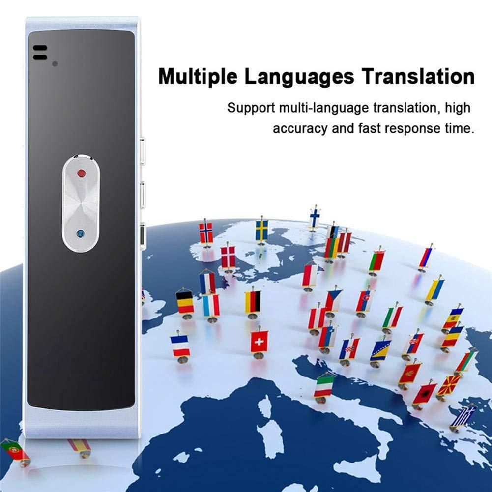 Translaty Muama Enence Smart Translator,Tragbarer Gold intelligenter /Übersetzer mit 40 Sprachen Instant Real Time Voice Languages