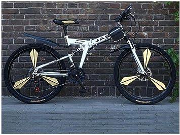 Bicicleta de Montaña 21 Velocidades Unisex Doble Suspensión Acero ...