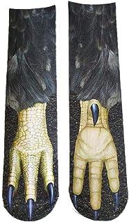 Biback Noël Animal Chaussettes Patte, 4 Paires/Pack 3D Animaux Chaussettes Coton Halloween Chaussettes, Élastique Respirable 3D Imprimé Longue Chaussette
