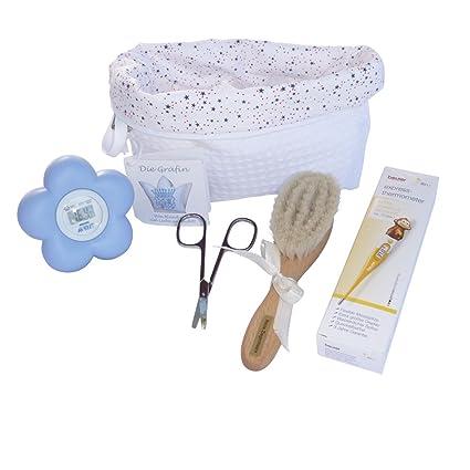 Baby Set de Cuidado erstausstattung Premium Unisex Biberon con bolsa para pañales bio de algodón