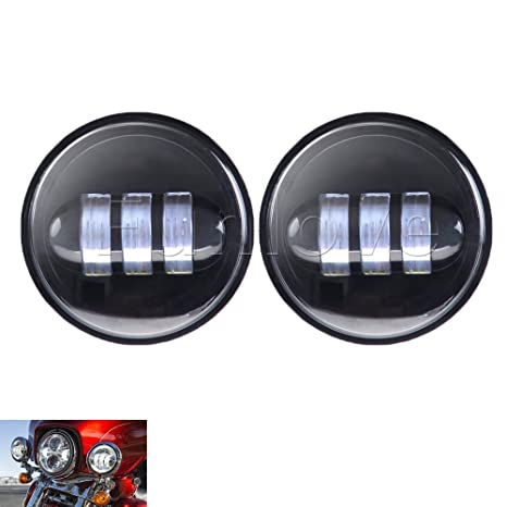 amazon com funlove 4 5 inch 30w cree led fog lights daymaker  amazon com funlove 4 5 inch 30w cree led fog lights daymaker passing auxiliary lamp for harley davidson motorcycle automotive