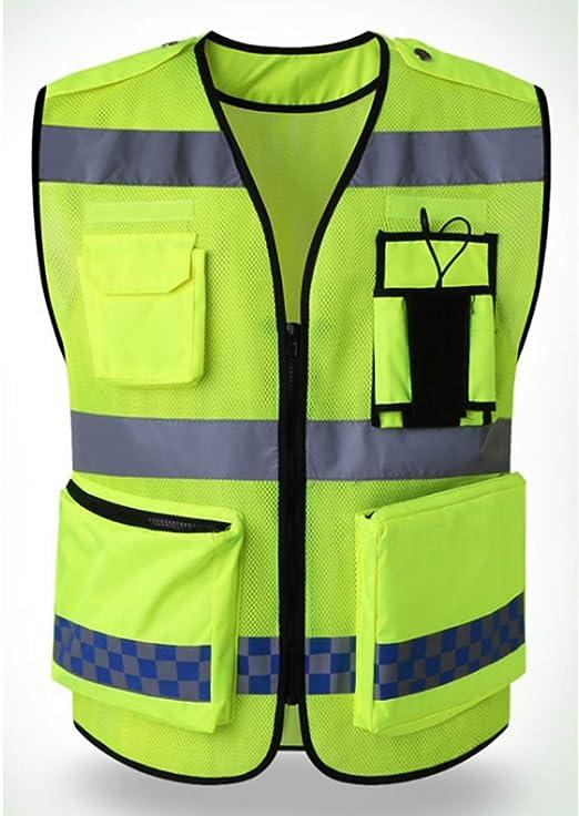 BAACHANG Chaleco reflectante chaleco de seguridad cinturón fluorescente único trabajo de alta visibilidad Jokingu bicicleta guardia de seguridad del tráfico fluorescente chaleco reflectante de segurid: Amazon.es: Hogar