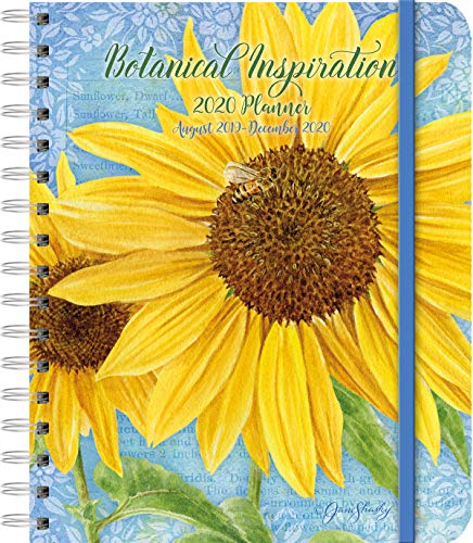 Lang Companies Botanical Inspiration Deluxe Planner with Spiral Bound Design & Premium Paper - 17 Months - Weekly Format - Handy Pocket Folders