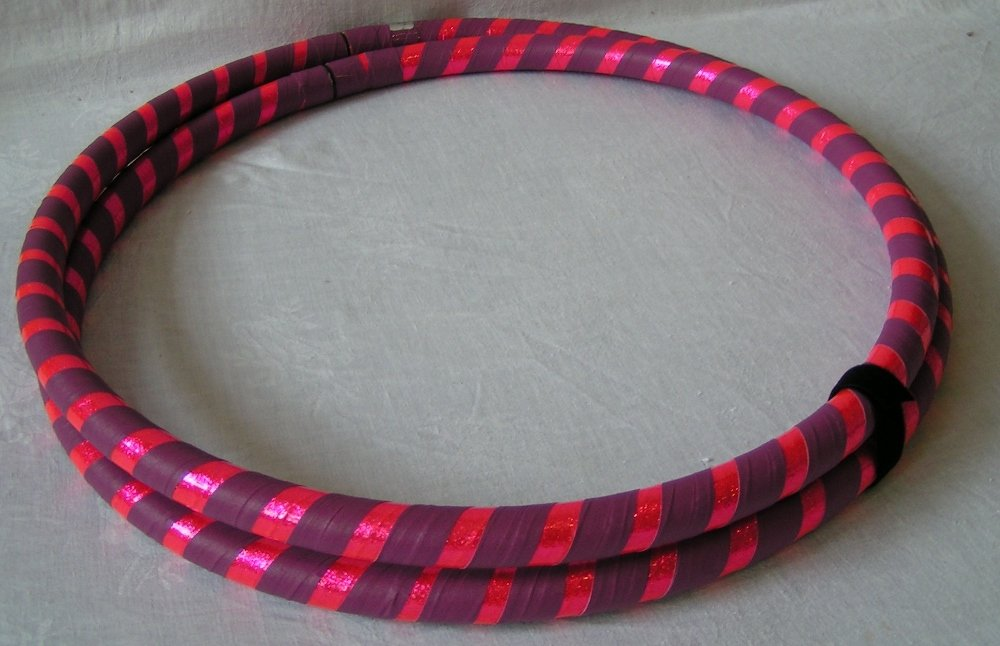 Canyon Hoops Infinity Collapsible Weighted Exercise Travel Hoop - Made in USA (pink/purple, 40'' medium) by Canyon Hoops