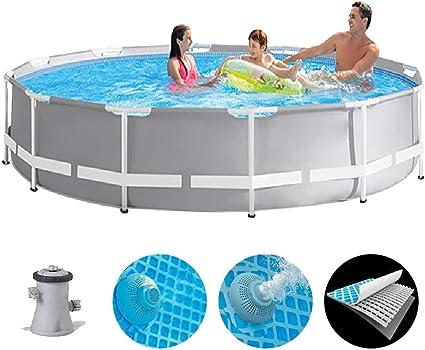 ZZQH Piscina automontable con depuradora, Piscina Desmontable Tubular Diversión Familiar de Agua en Verano 145 x 30 In, para Niños y Adultos: Amazon.es: Deportes y aire libre