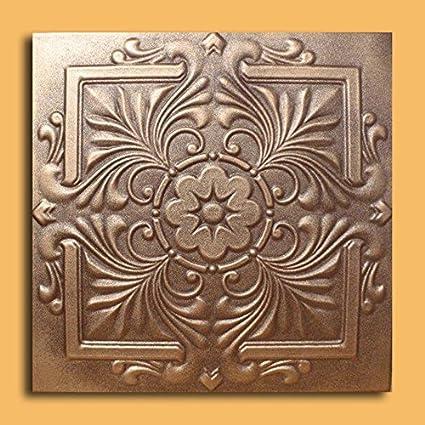 antique ceilings inc royal bronze brown styrofoam ceiling tile package of 10 tiles - Antique Ceiling Tiles