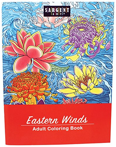 Sargent Art 98-0102 Far Influenced Artwork Eastern Winds Adult Colouring...