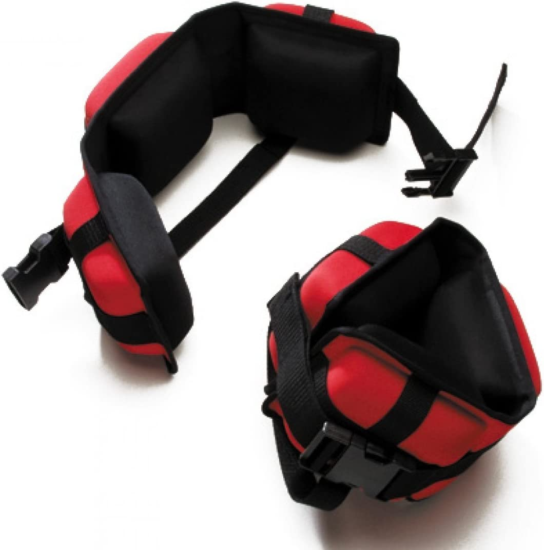Pair Red Water Gear Professional Aqua Cuffs Heavy Resistance