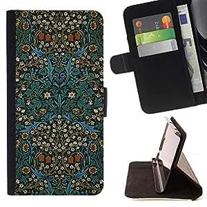 For Sony Xperia M4 Aqua Case , Cultura Oriental Alfombra Papel Pintado- la tarjeta de Crédito Slots PU Funda de cuero Monedero caso cubierta de piel